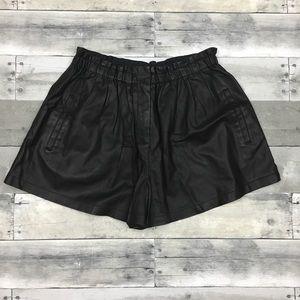 Zara Woman Faux Leather Shorts